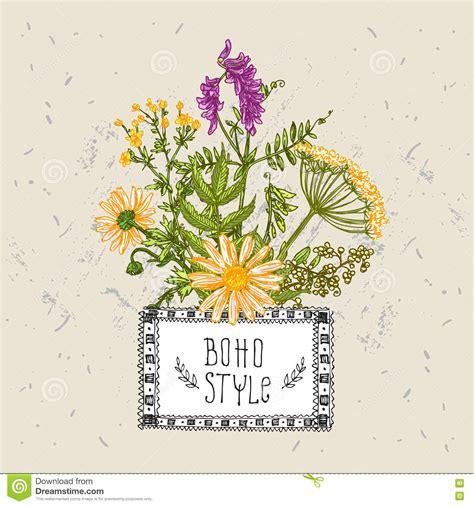 style flower boho style flower stock vector image 73492006