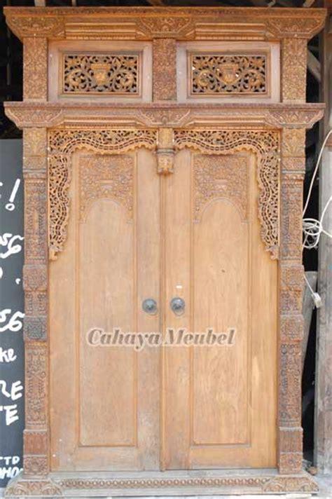 pintu gebyok jawa kayu jati jual pintu gebyok ukir kayu