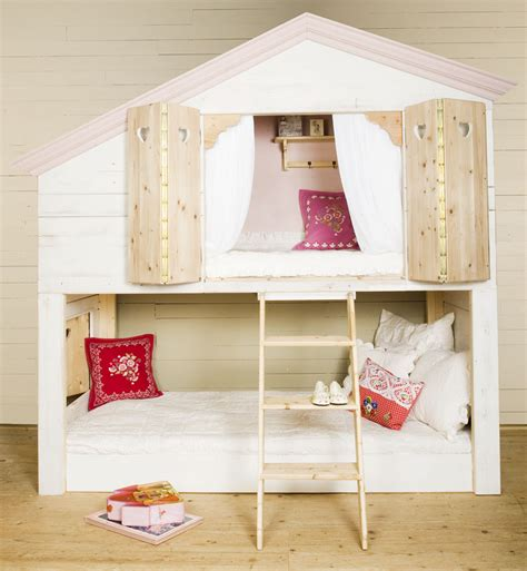 bunk bed house bedroom designs unique girl bunk beds house shape wooden floor cozy place enjoyable