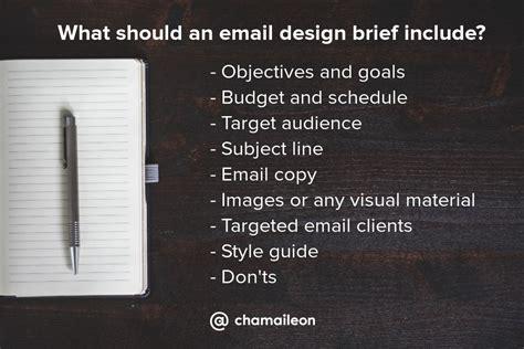 design brief goal email newsletter design best practices 40 exles included
