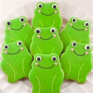 Frog Favors by Frog Cookie Favors Garden Bug 12 Frog Sugar Cookie