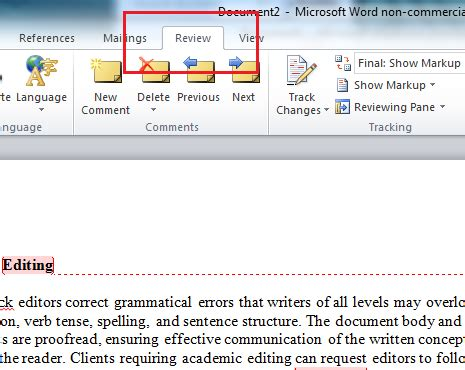 Office Word Editor Microsoft Remove Editor Comments Word 2010