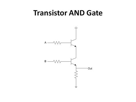 transistor or gate circuit 4 bit computer waiting for friday