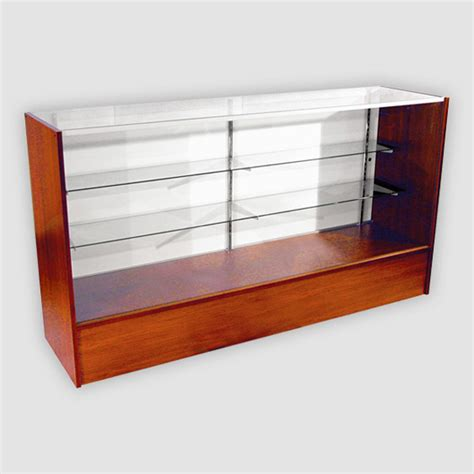 wooden showcase wood full vision showcase wood full vision display case