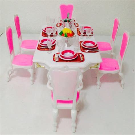 barbie doll house furniture sets barbie size dollhouse furniture grand dining room play set barbie collectibles