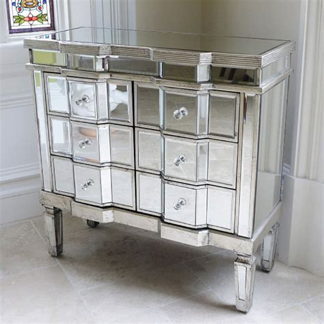 Mirrored Bedroom Chest Of Drawers by Venetian Style Mirrored Chest Of Drawers Storage Uk
