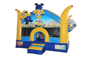 Minion Bounce House by Commercial Bouncer Bounce House Jumping