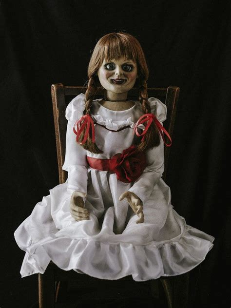 conjuring  annabelle doll haunted horror dummy puppet