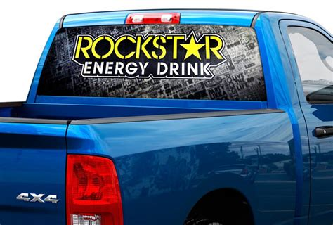 rockstar energy jeep product rockstar energy drink rear window decal sticker