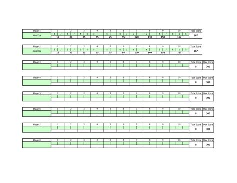 bowling reference card template 20 images of bowler chart template stupidgit