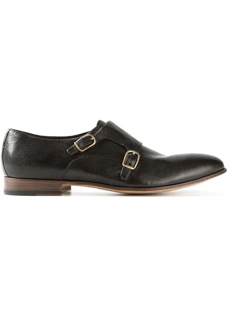 buckle shoes raparo buckle shoe in black for lyst