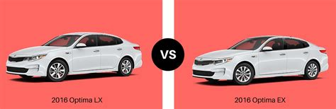 Kia Optima Lx Ex Sx Difference 2016 Optima Lx Vs 2016 Optima Ex