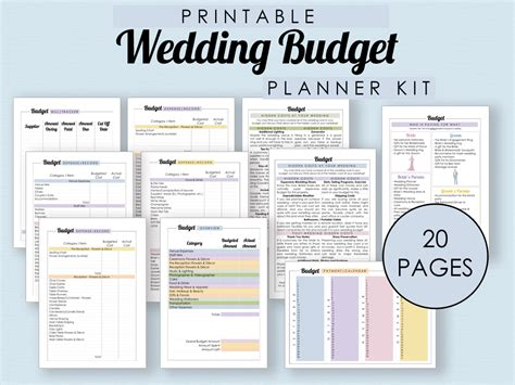 Wedding Budget Planner by The Complete Guide To Wedding Binder Printables The