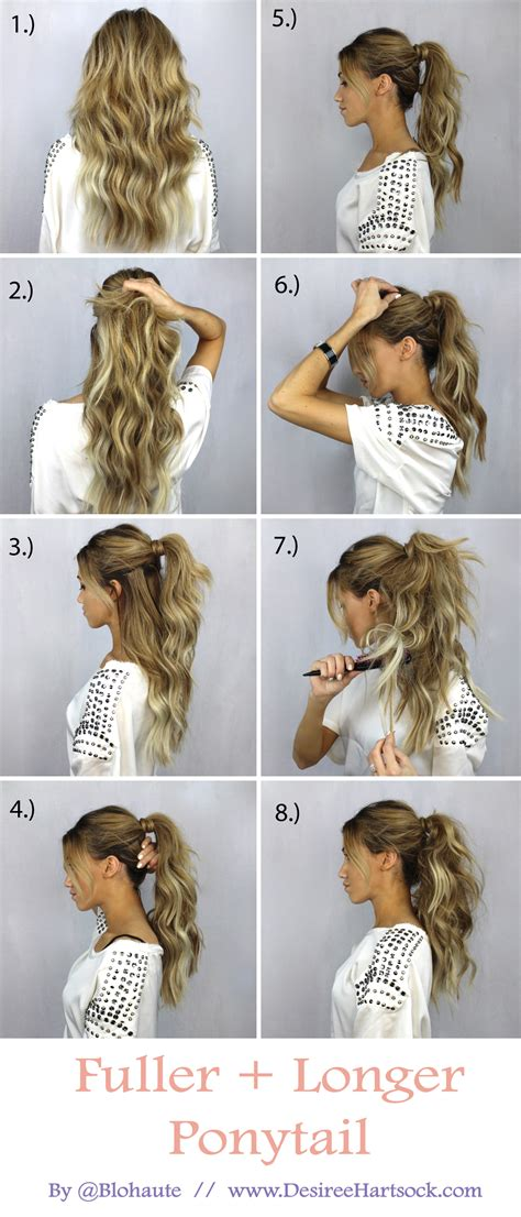 tutorial thin hair hairstyles create a fuller and longer ponytail in these easy steps