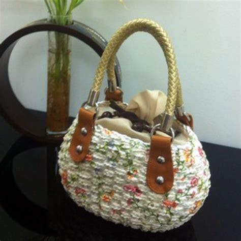Decoupage Thailand - floral decoupage handbag thai handcrafts shop