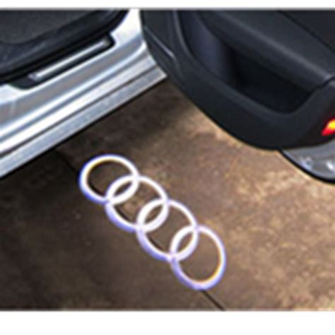 audi a6 c5 lights led door warning light with for audi logo projector for