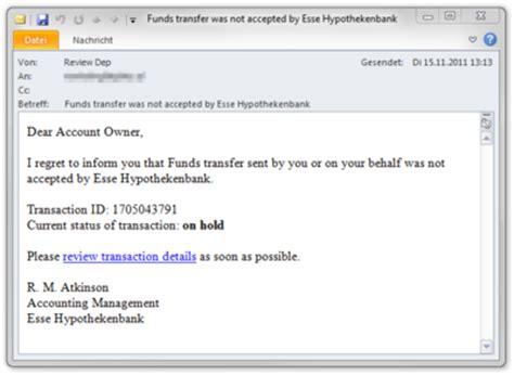 Offizielle Email Auf Englisch Beispiel F 252 R Eine Betrugs Mail Extremnews Die Etwas