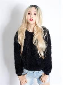 long blonde hair wig korean fashion