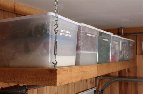 garage overhead storage shelf plans plans