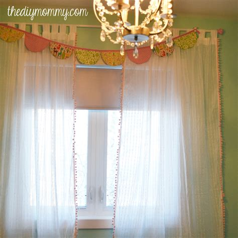 Diy Nursery Curtains Make Boutique Nursery Drapes With Pre Made Curtains And Pom Pom Trim The Diy