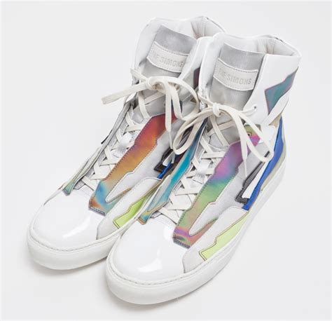 raf simons holographic space sneaker quot multicolored quot sole collector