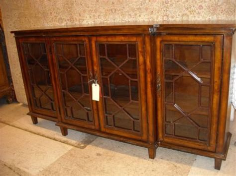buffet table with glass doors sideboard cabinet credenza buffet table chippendale