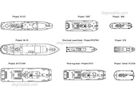 boat plans dxf boats plans cad blocks free autocad file download