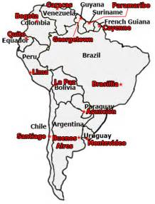south america map quiz countries and capitals best photos of south america map with capitals south