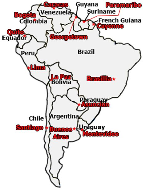 south america map countries and capitals quiz best photos of south america map with capitals south