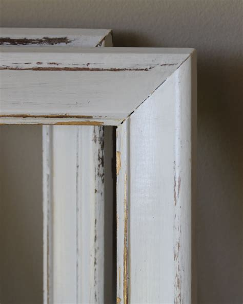 distressed wood frame white picture photo shabby chic cottage
