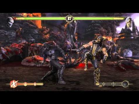 mortal kombat scorpion vs noob saibot youtube mortal kombat komplete edition scorpion vs noob saibot