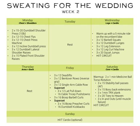 18 Best Sweating For The Wedding Images On Pinterest Exercise Routines Fitness Plan And 4 Day Rotation Diet Template