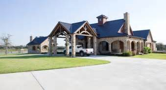 Barn Lighting Exterior Rustic Timber Frame Home On Tx Ranch Traditional