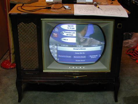 color tv year rca model ctc 7 color television 1958