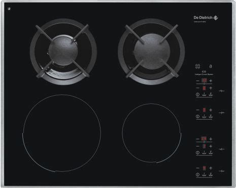 mixed induction ceramic hob mixed induction gas induction radiant hobs from de dietrich