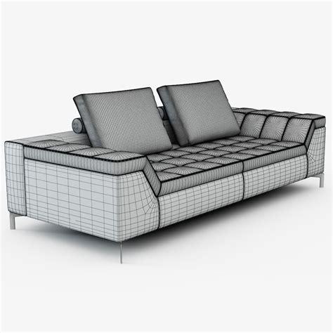 contemporary sofa cine  marcus ferreira  model max obj fbx mtl cgtradercom