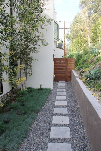 mid century modern landscaping love  stone path
