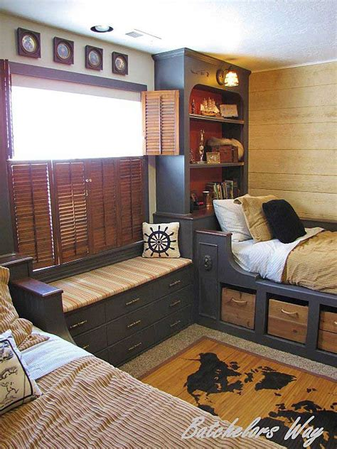 cool windows for boys room with pirates themed