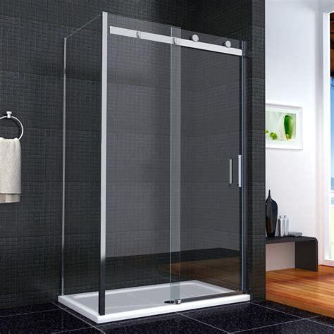 Shower Screens Sliding Door Luxury Frameless Sliding Shower Door Enclosure Easyclean Glass Screen Tray Ebay