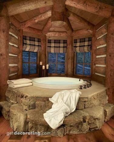 log cabin hot tub bath tub  yeah log homes home