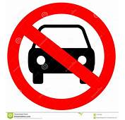 No Parking Sign Stock Vector Image Of Round Rule