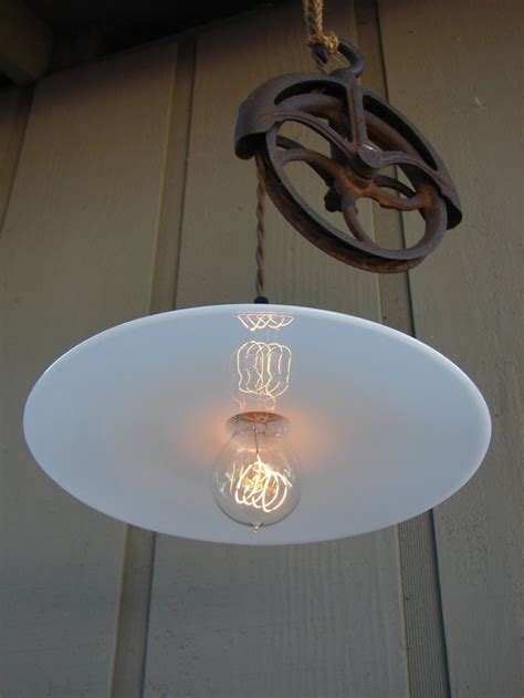Upcycled Light Fixtures Cool Upcycled Light Fixture For The Home Design Pulley And This