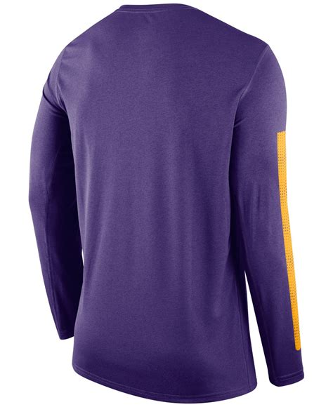 Nike Mens Legend Ncaa Ss T Shirt Day Dri Fit Size Origin lyst nike s sleeve lsu tigers legend dna t shirt in purple for