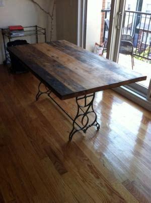 Repurposed sewing table legs