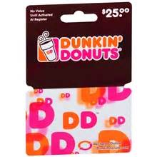 Where To Buy Dunkin Donuts Gift Cards - dunkin donuts 25 gift card walgreens