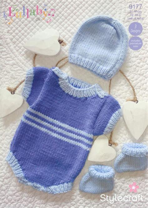 stylecraft knitting patterns to stylecraft 9177 knitting pattern baby romper hat and
