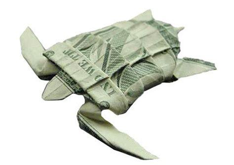 Money Origami Turtle - one dollar bill origami origami dollar