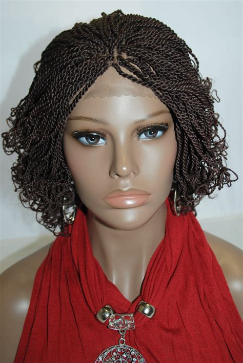 fully braided african wigs fully hand braided lace front wig kinky twist 33 in 10