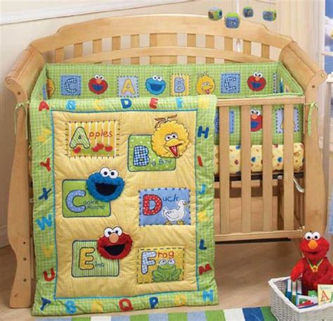 Sesame Crib Set by New Sesame Elmo A Is For Apples Crib Mobile Only Ebay