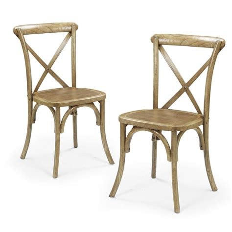 Antique Wood Dining Chairs Elm Wood Rattan Antique Stacking Dining Chairs Set Of Two On Sale Now